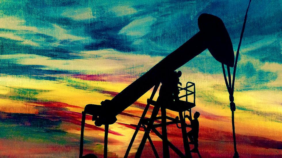 """""""Alberta Sunset"""" by artist: Tori Michelle Carter"""