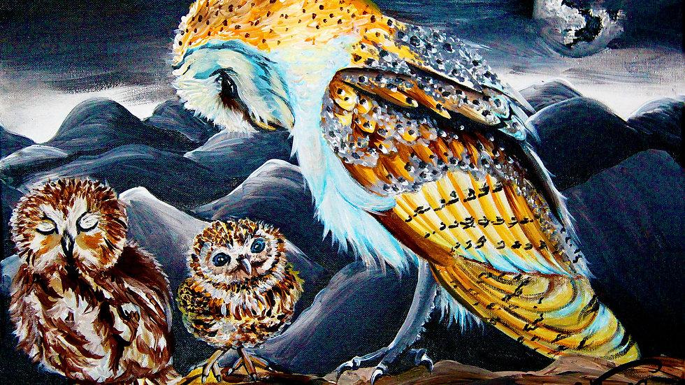 """Grandma Owl"" by artist: Tori Michelle Carter"