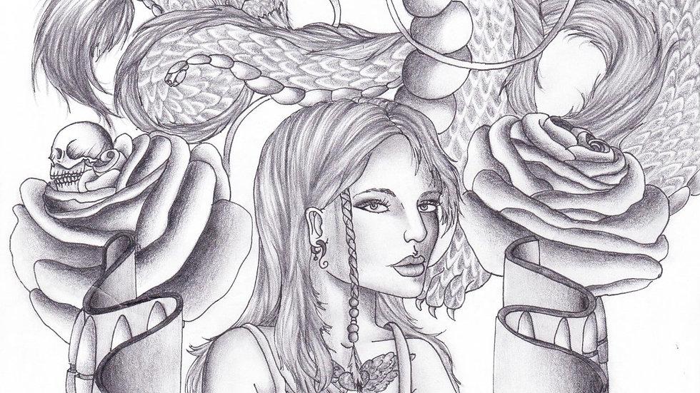 """Heart of a Dragon"" by artist: Tori Michelle Carter"
