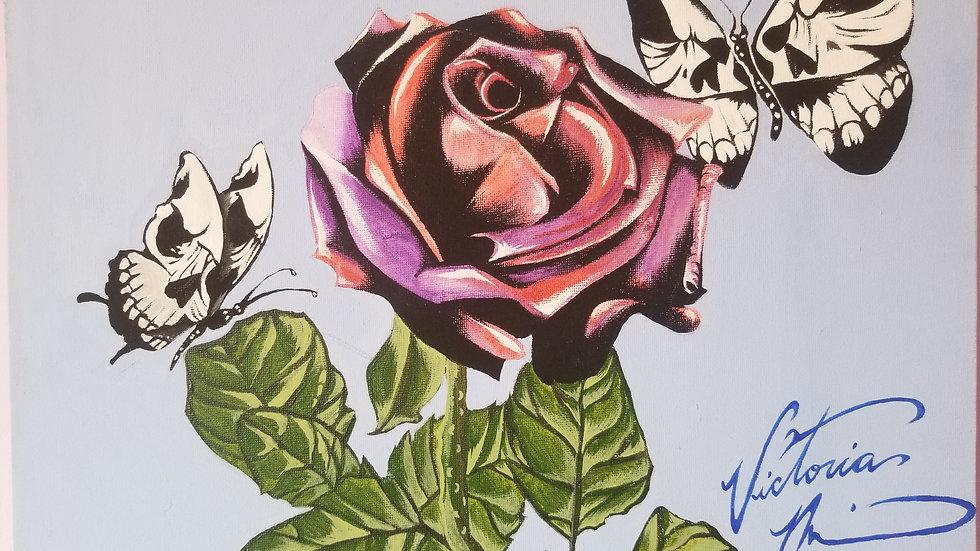 """""""Skull Rose"""" by artist: Tori Michelle Carter"""