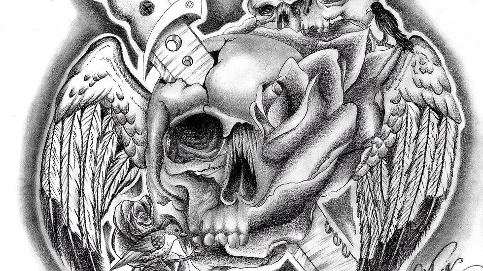 """Skull Wings"" by artist: Tori Michelle Carter"