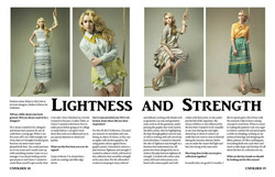Interview and visual styling for Unfolded Magazine