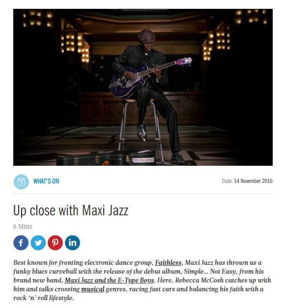 Interview with Maxi Jazz for i-on Magazine