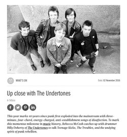 Interview with The Undertones for i-on Magazine