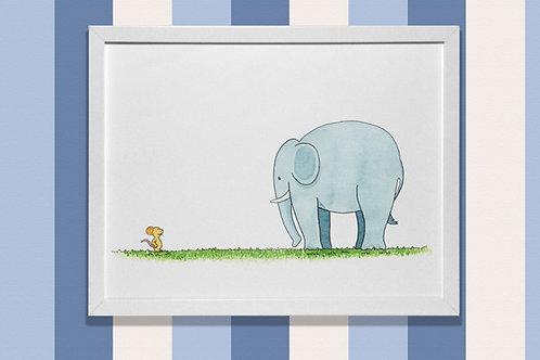 Elefante y ratón