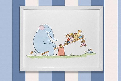 Elefante y balancín