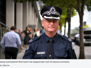 Top cop resigns in disgrace over link to racist and obscene posts