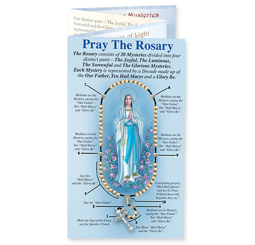 Pray the Rosary Pamphlet (English or Spanish)