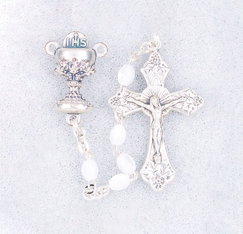 First Communion Rosary, Imitation Pearl