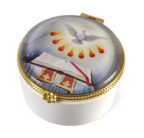 Porcelain Rosary Keepsake Box