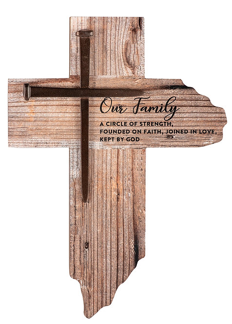 Rustic Family Wall Cross