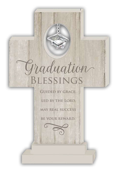 "6"" Graduation Charm Cross"