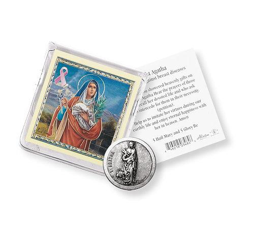 St. Agatha (Breast Cancer) Coin Pocket Token