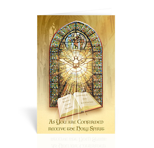 Holy Spirit Blessing Confirmation Greeting Card