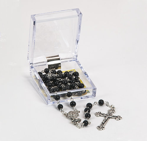 First Communion Rosary, Black