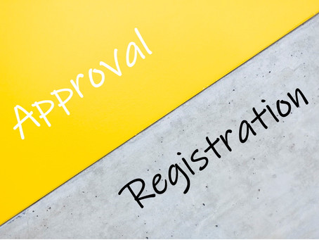 What's the difference between approval and registration?