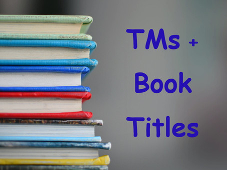 Can a book title be registered as a trademark?