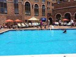outside pool side