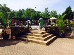 outside pool walk up