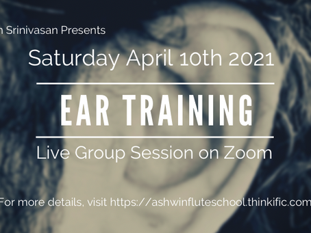 Saturday Live Sessions on Zoom - Ear Training - 10:30am