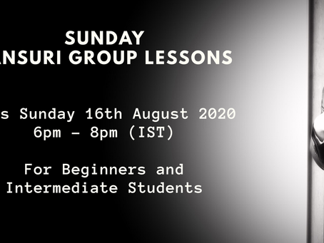 Sunday Masterclass for 16th August