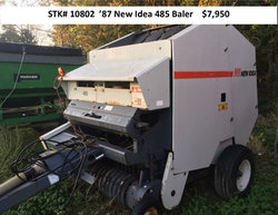 New Idea Round Baler 485