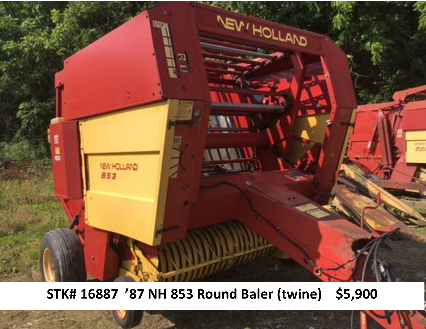 New Holland 853 Round Baler