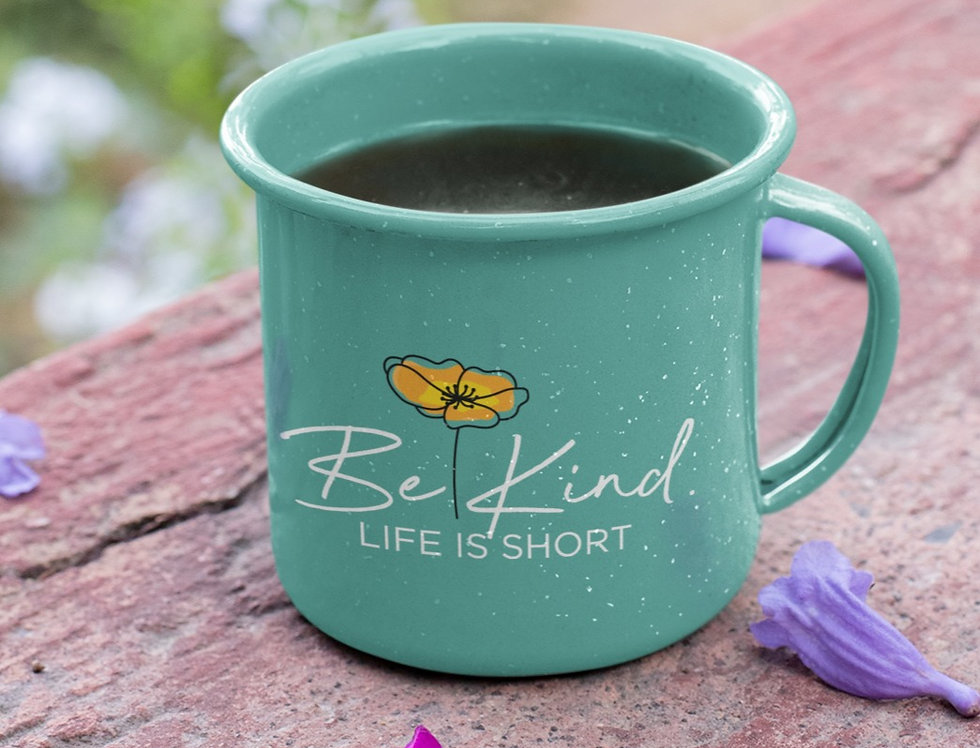 Be Kind - Ceramic Camper Mug