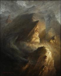 La croix dans les nuages