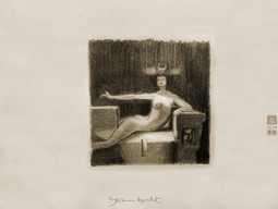 Composition antique et théâtrale avec souci anatomique