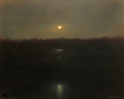 Clair de lune sur l'étang de Grandeffe