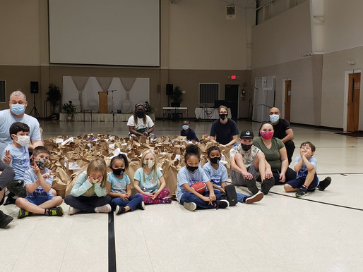 Summerville Pathfinders Collect Canned Goods