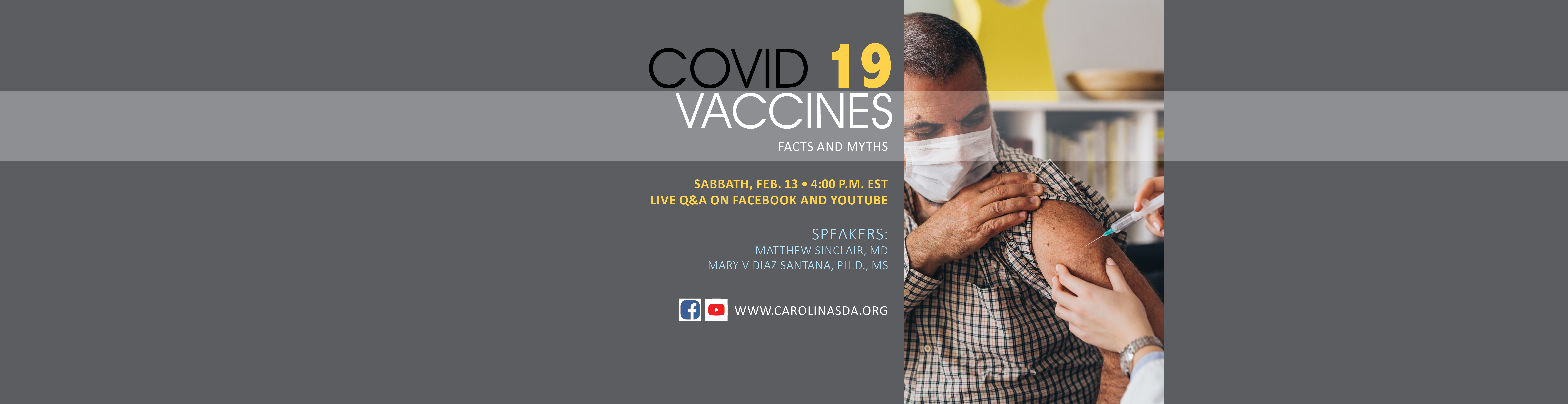 Vaccine Health Event web banner