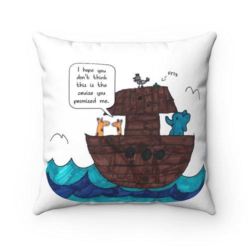 Noah's Cruise — Spun Polyester Square Pillow