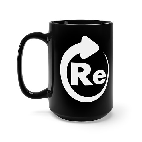 Re — Black Mug 15oz