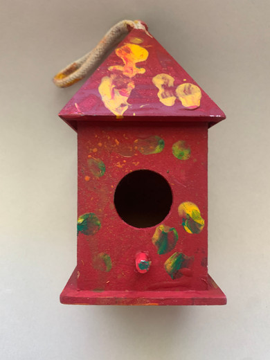 """""""Red and Yellow Bird House"""""""