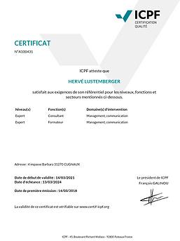 certificat ICPF  2021 - 2024 LUSTEMBERGE