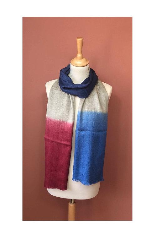 Echarpe tie dye soie et laine