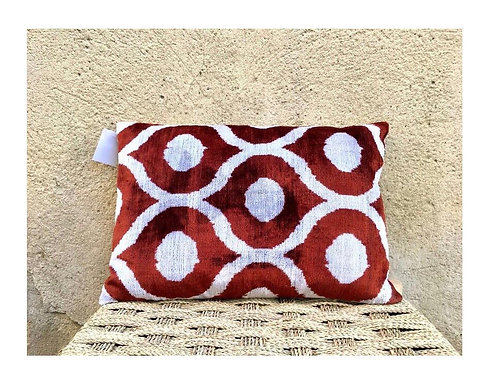 Coussin ikat velours