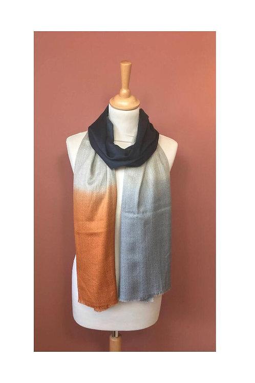 Écharpe tie dye laine et soie