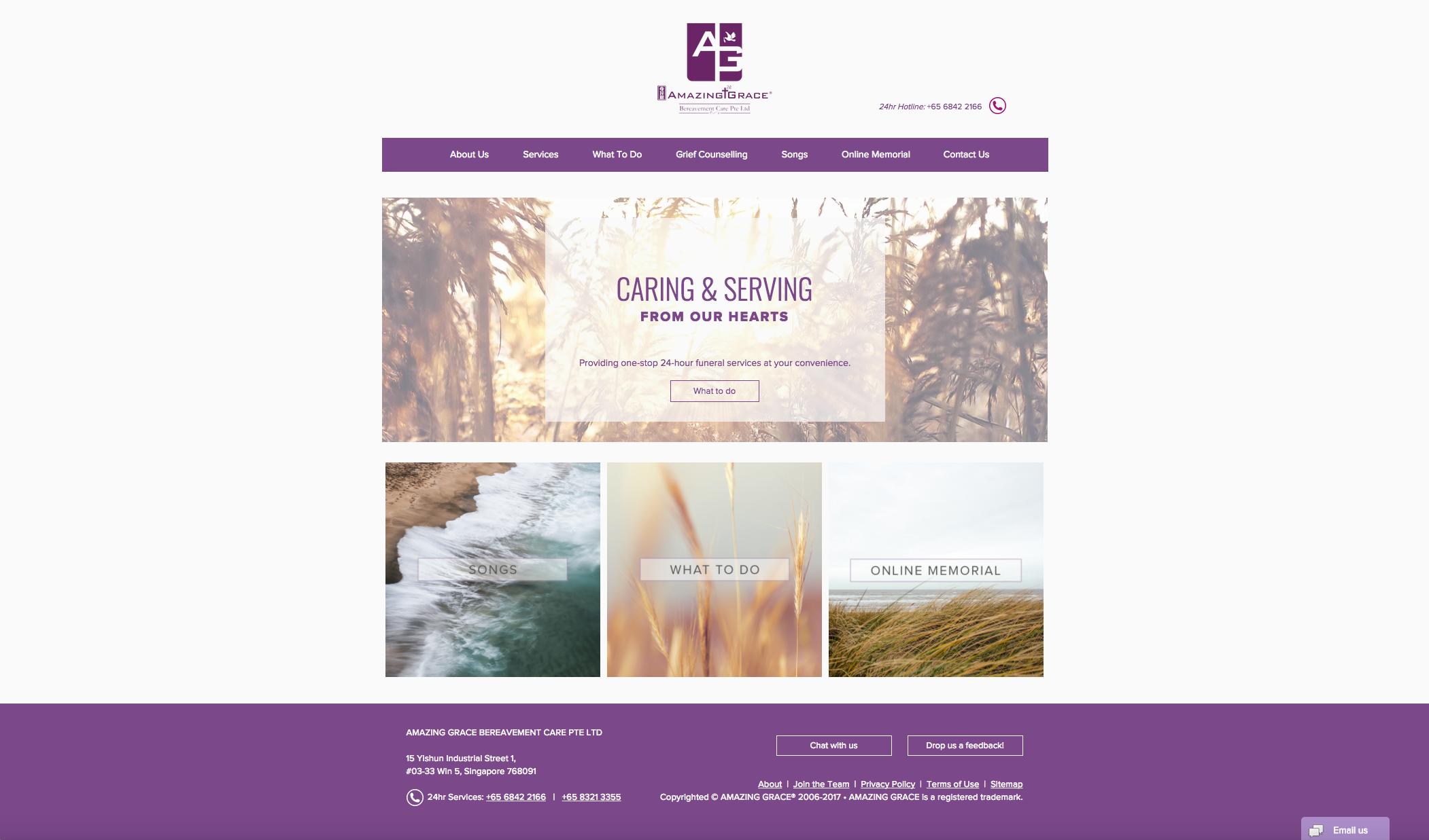 Contact Us | Amazing Grace Bereavement Care | Singapore