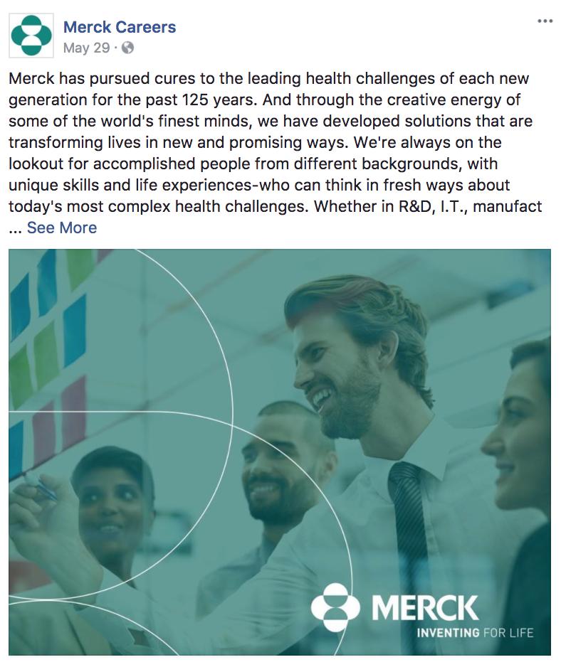 Merck Facbook Content