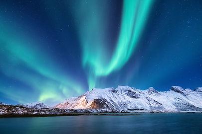 Aurora borealis on the Lofoten islands,