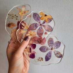 Flower agate coaster