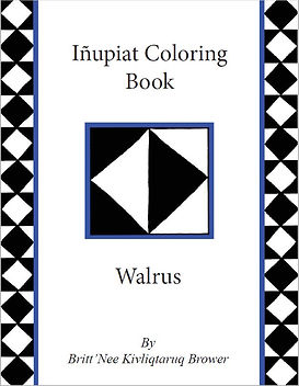 Inupiat Coloring Book - Walrus Cover Pag
