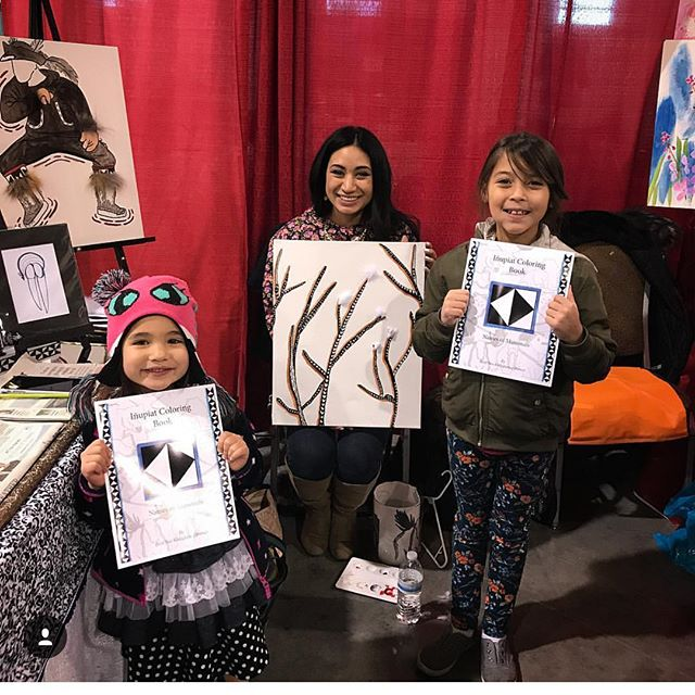 Inupiat Coloring Book with my nieces 😍�