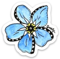 Forgetmenot Sticker