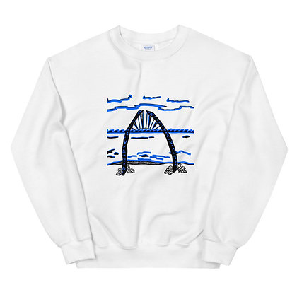 Whale Bone Arch Unisex Sweatshirt