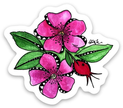 Wild Rose & Rose Hips Sticker