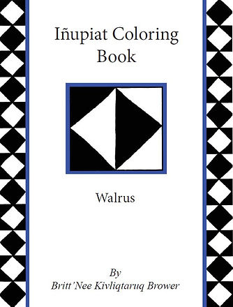 Cover Page Walrus Inupiat Coloring Book.